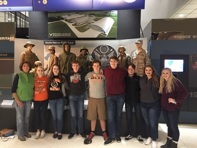 PWHS Students visit U.S. National Air Force Museum