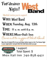 """Fun""draiser Night for West Band at Mex-Itali Restaurant"