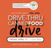 Miss West To Host Food Drive Friday, April 17