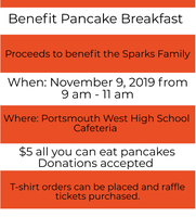 Benefit Pancake Breakfast on 11/9