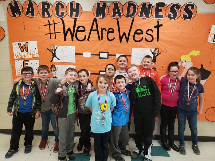 PWES Third Grade March Madness Game Three Winners