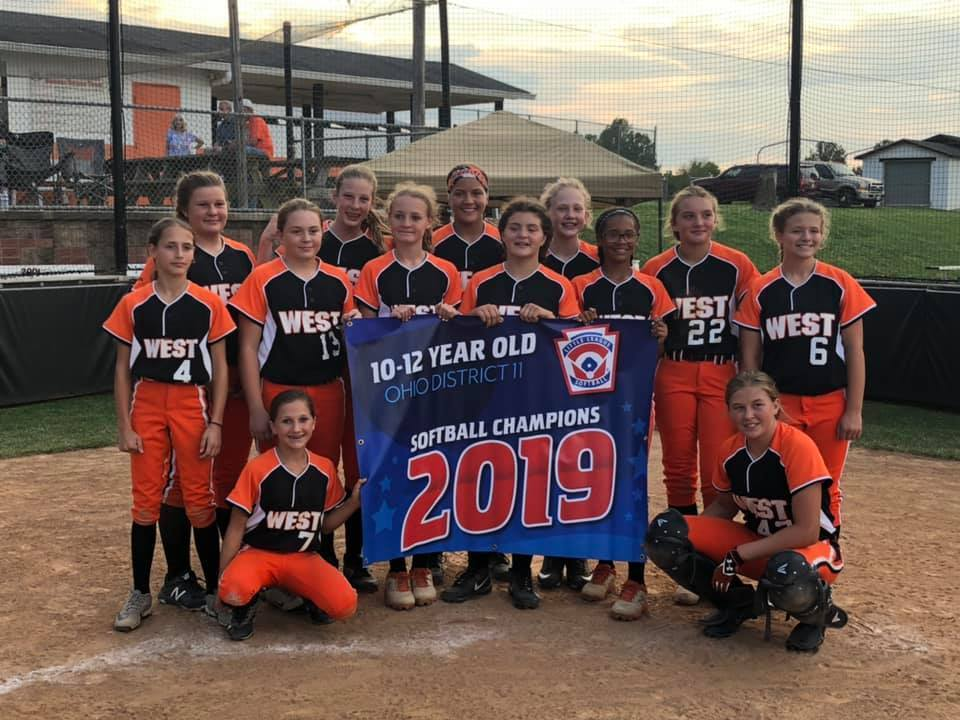 Portsmouth West Girls 10-12 - 2019 Ohio District 11 Champions