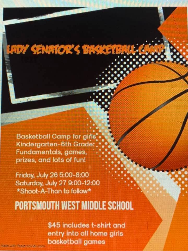 Lady Senator Basketball Camp Flyer