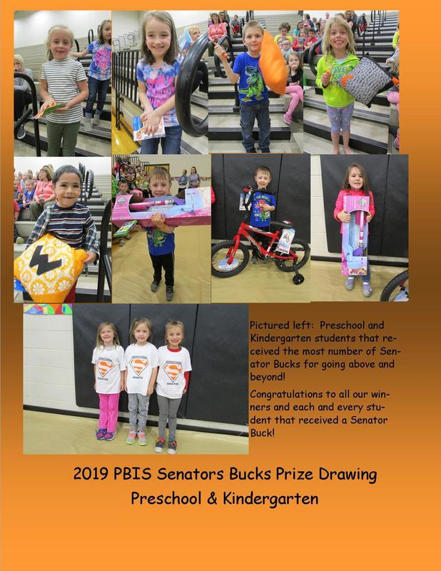 PBIS Senator Bucks Prize Drawings