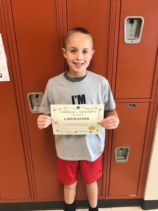 Carter Keyser - 4th Grade Math